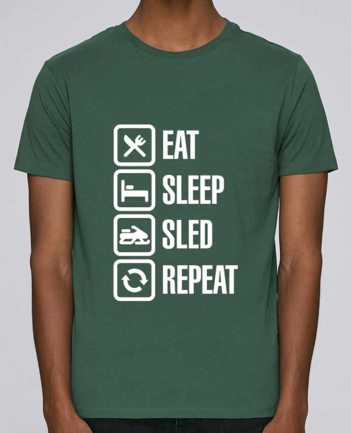 Unisex T-shirt 150 G/M² Leads Eat, sleep, sled, repeat by LaundryFactory