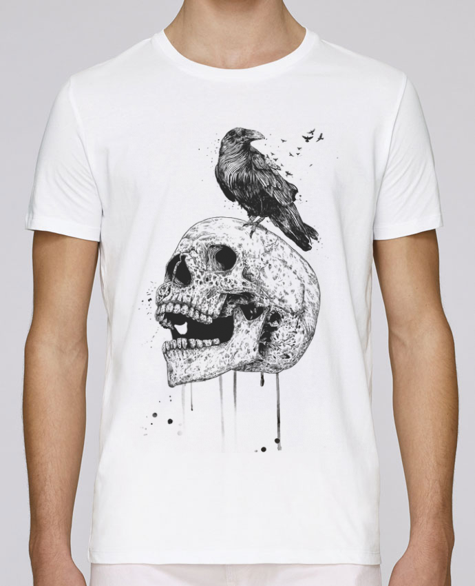 Unisex T-shirt 150 G/M² Leads New skull (bw) by Balàzs Solti