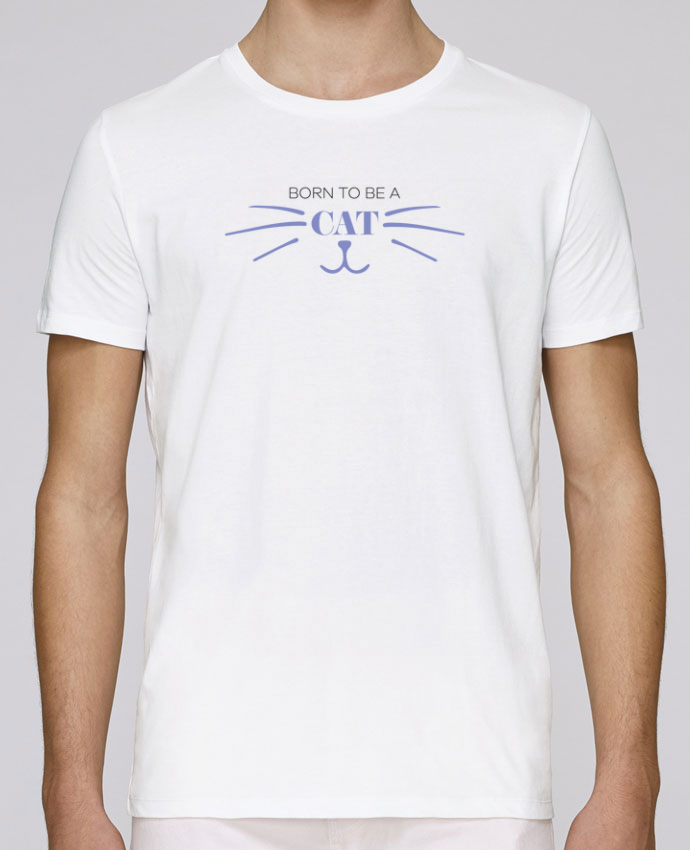 Unisex T-shirt 150 G/M² Leads Born to be a cat by tunetoo