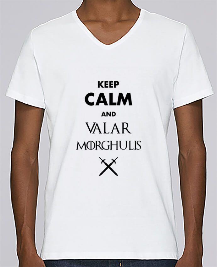 T-shirt V-neck Men Stanley Relaxes Keep calm and Valar Morghulis by tunetoo