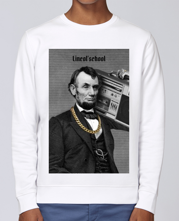 Unisex Sweatshirt Crewneck Medium Fit Rise Lincol'school by Ads Libitum