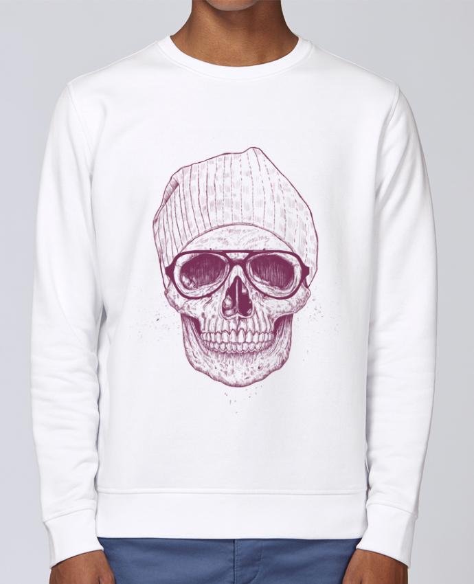 Unisex Sweatshirt Crewneck Medium Fit Rise Cool Skull by Balàzs Solti