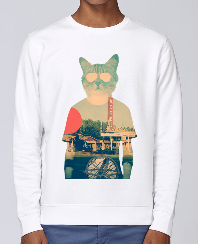 Unisex Sweatshirt Crewneck Medium Fit Rise Cool cat by ali_gulec