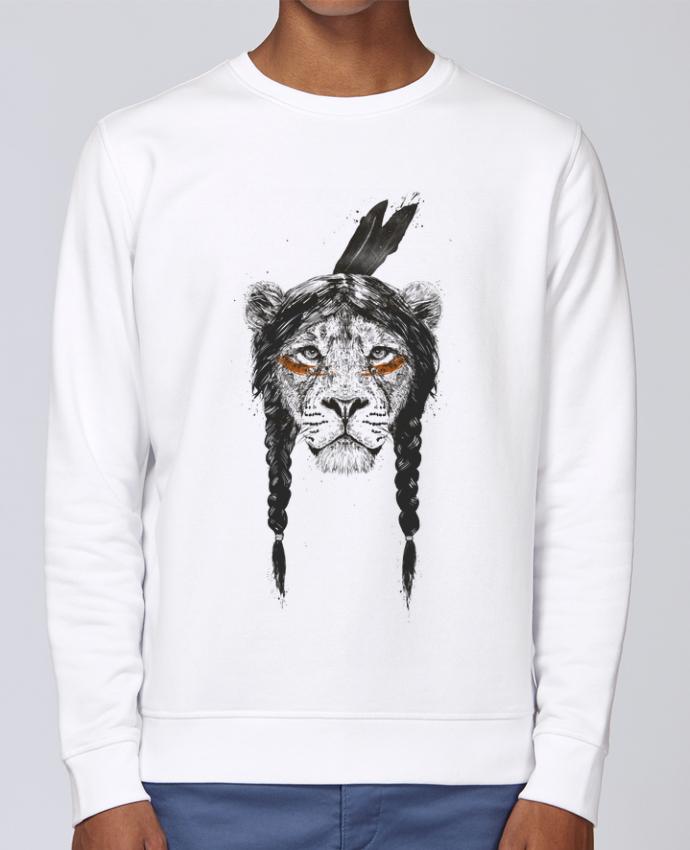 Unisex Sweatshirt Crewneck Medium Fit Rise warrior_lion by Balàzs Solti