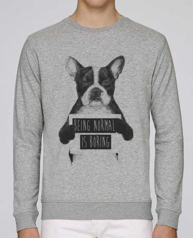 Unisex Sweatshirt Crewneck Medium Fit Rise Being normal is boring by Balàzs Solti
