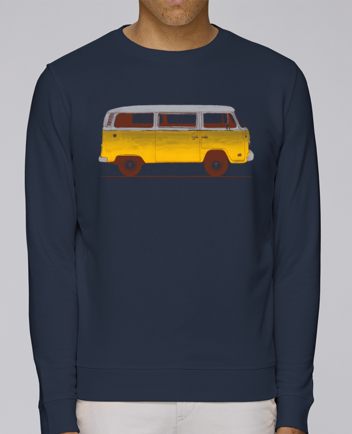 Unisex Sweatshirt Crewneck Medium Fit Rise Yellow Van by Florent Bodart