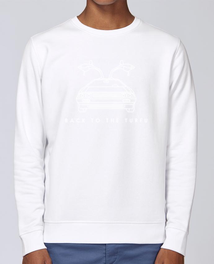 Unisex Sweatshirt Crewneck Medium Fit Rise Back to the turfu by tunetoo