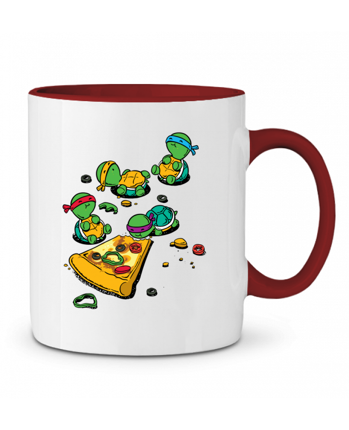 Two-tone Ceramic Mug Pizza lover flyingmouse365