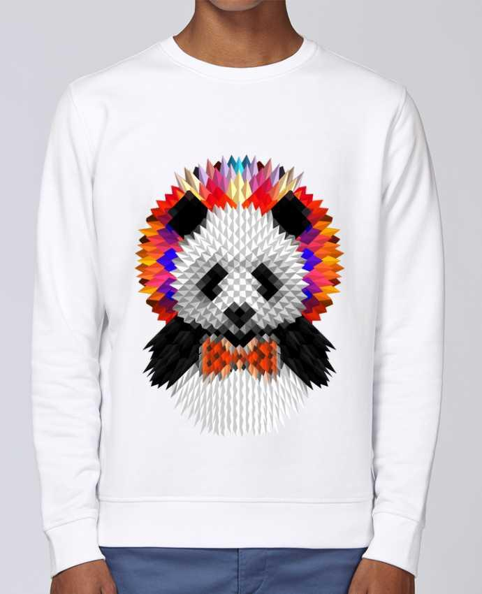 Unisex Sweatshirt Crewneck Medium Fit Rise Panda by ali_gulec