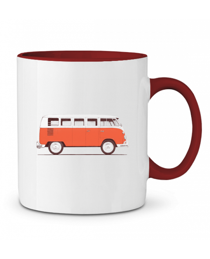 Two-tone Ceramic Mug Red Van Florent Bodart