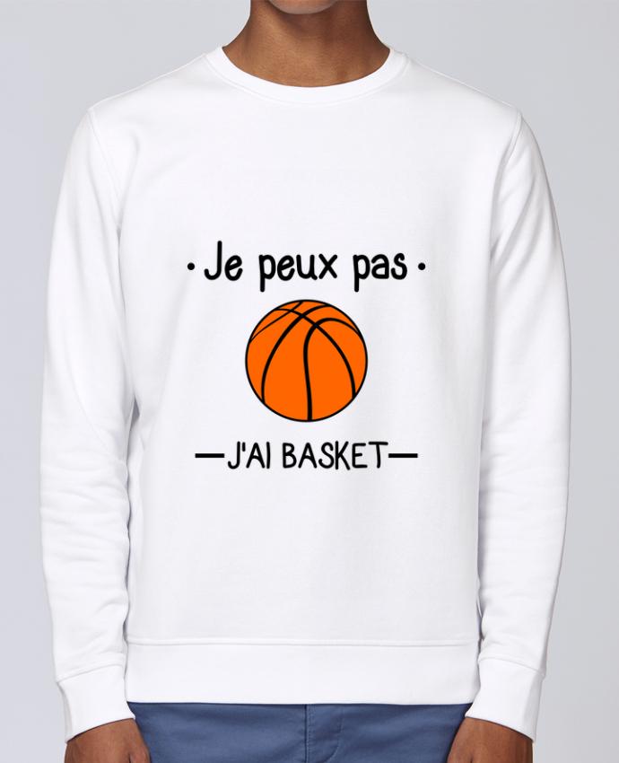 Unisex Sweatshirt Crewneck Medium Fit Rise Je peux pas j'ai basket,basketball,basket-ball by Benichan