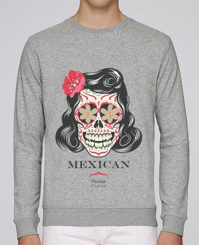 Unisex Sweatshirt Crewneck Medium Fit Rise Mexican crane by Mauvaise Graine