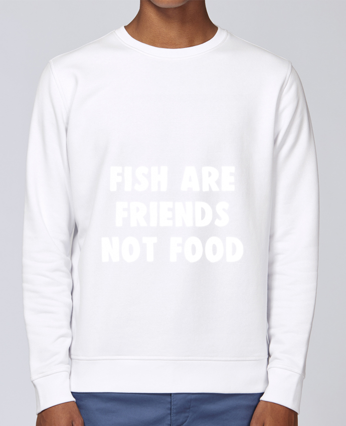 Unisex Sweatshirt Crewneck Medium Fit Rise Fish are firends not food by Bichette