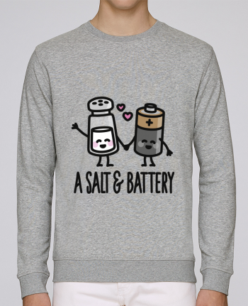Unisex Sweatshirt Crewneck Medium Fit Rise A salt and battery by LaundryFactory