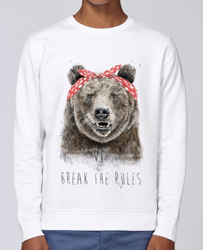 Unisex Sweatshirt Crewneck Medium Fit Rise Break the rules II by Balàzs Solti