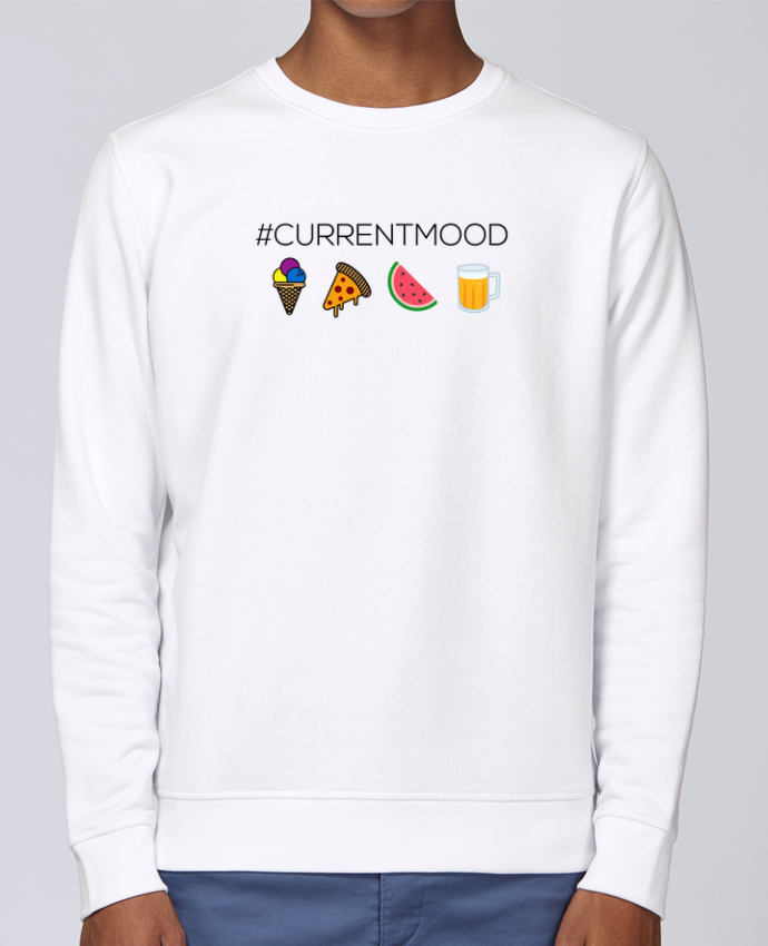 Unisex Sweatshirt Crewneck Medium Fit Rise #Currentmood by tunetoo