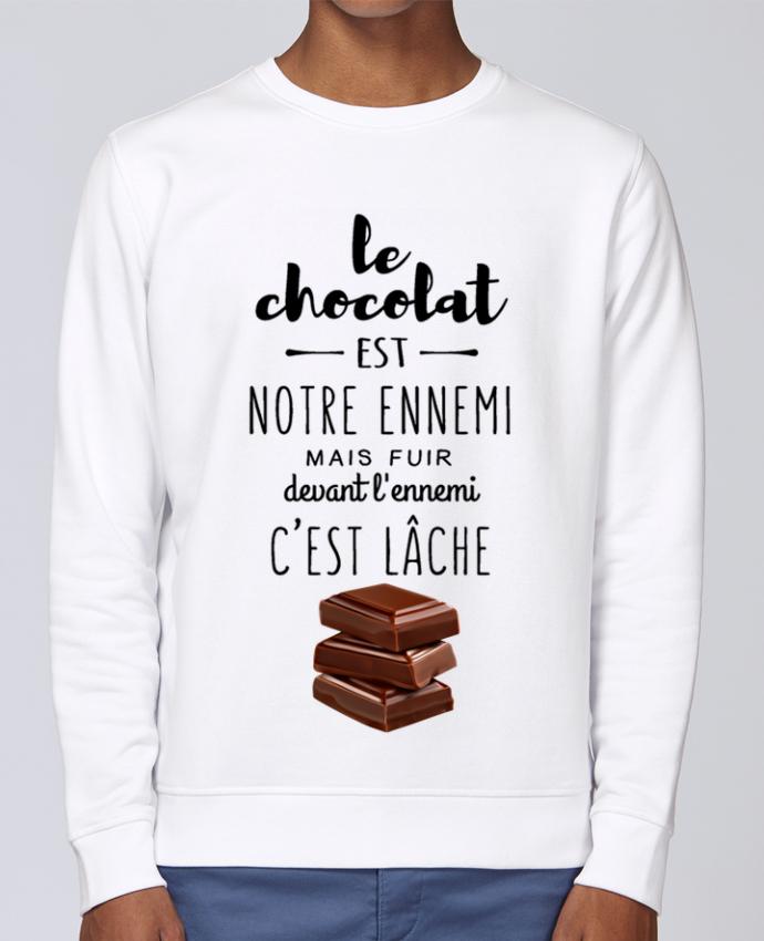 Unisex Sweatshirt Crewneck Medium Fit Rise chocolat by DesignMe