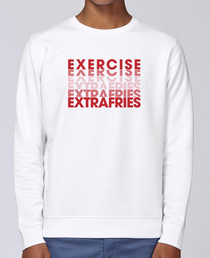 Unisex Sweatshirt Crewneck Medium Fit Rise Extra Fries Cheat Meal by tunetoo