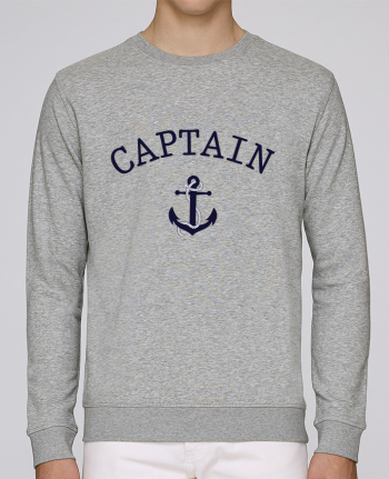 Unisex Sweatshirt Crewneck Medium Fit Rise Capitain and first mate by tunetoo