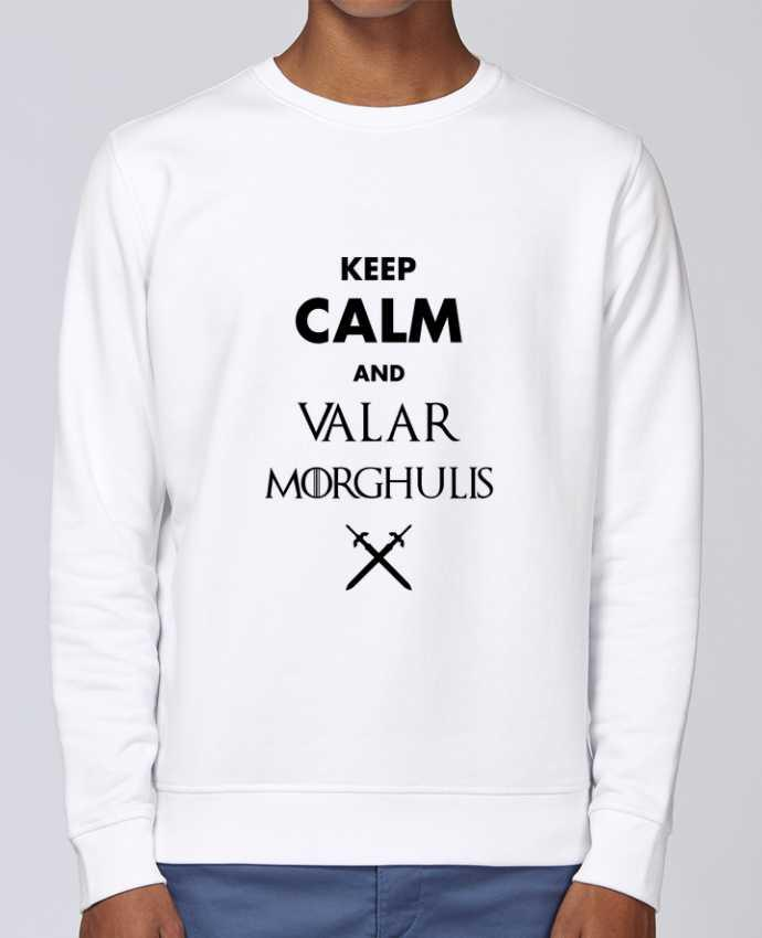 Unisex Sweatshirt Crewneck Medium Fit Rise Keep calm and Valar Morghulis by tunetoo