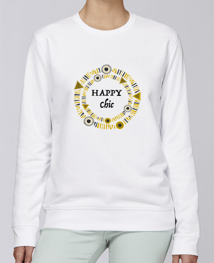 Unisex Sweatshirt Crewneck Medium Fit Rise Happy Chic by LF Design