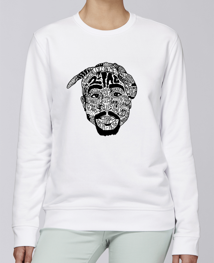 Unisex Sweatshirt Crewneck Medium Fit Rise Tupac by Nick cocozza