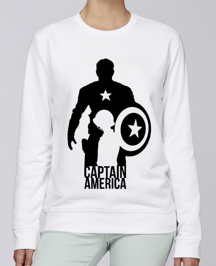 Unisex Sweatshirt Crewneck Medium Fit Rise Captain america by Kazeshini