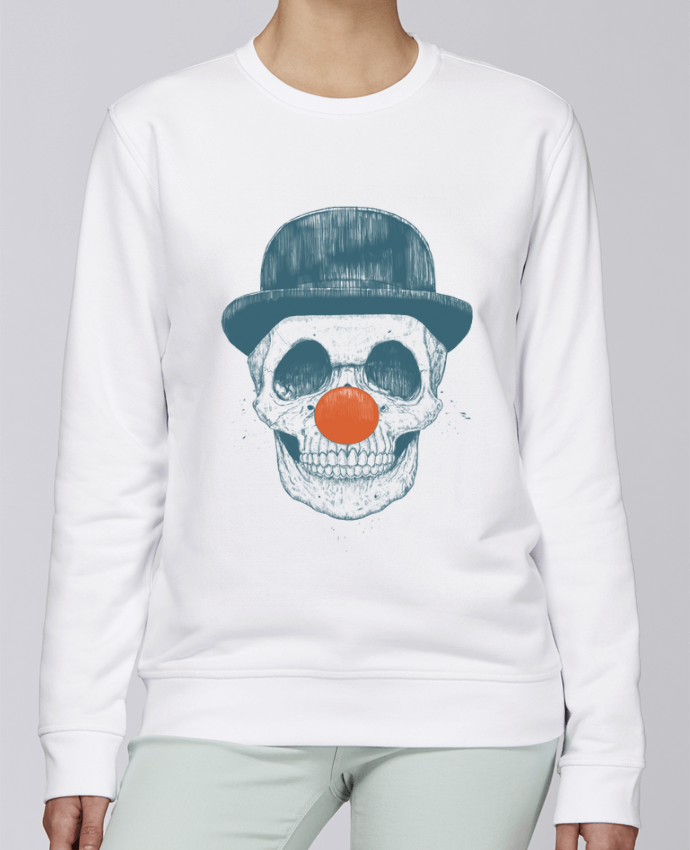 Unisex Sweatshirt Crewneck Medium Fit Rise Dead Clown by Balàzs Solti