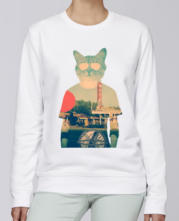 Unisex Sweatshirt Crewneck Medium Fit Rise Cool cat by ali_gulec