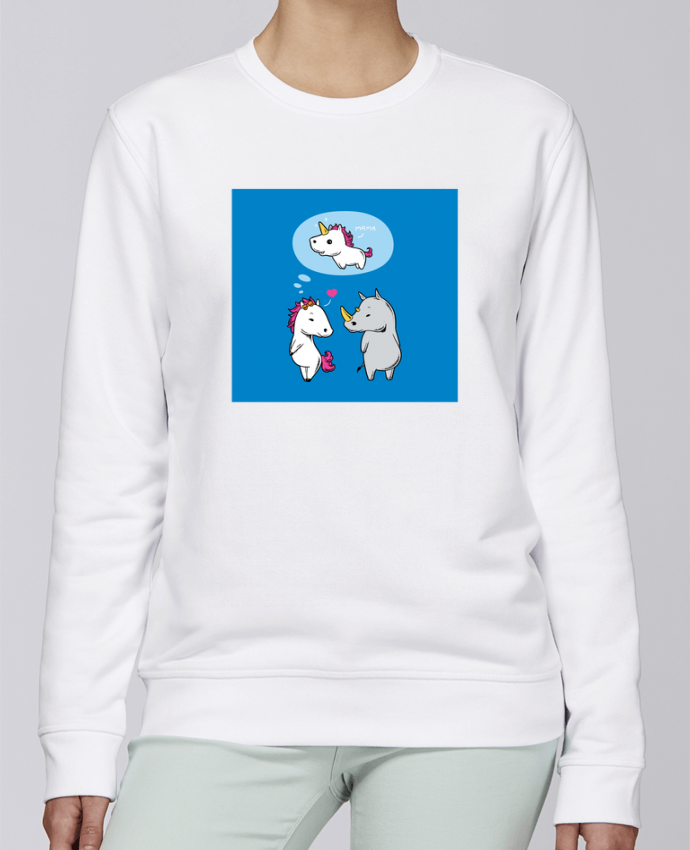 Unisex Sweatshirt Crewneck Medium Fit Rise Perfect match by flyingmouse365