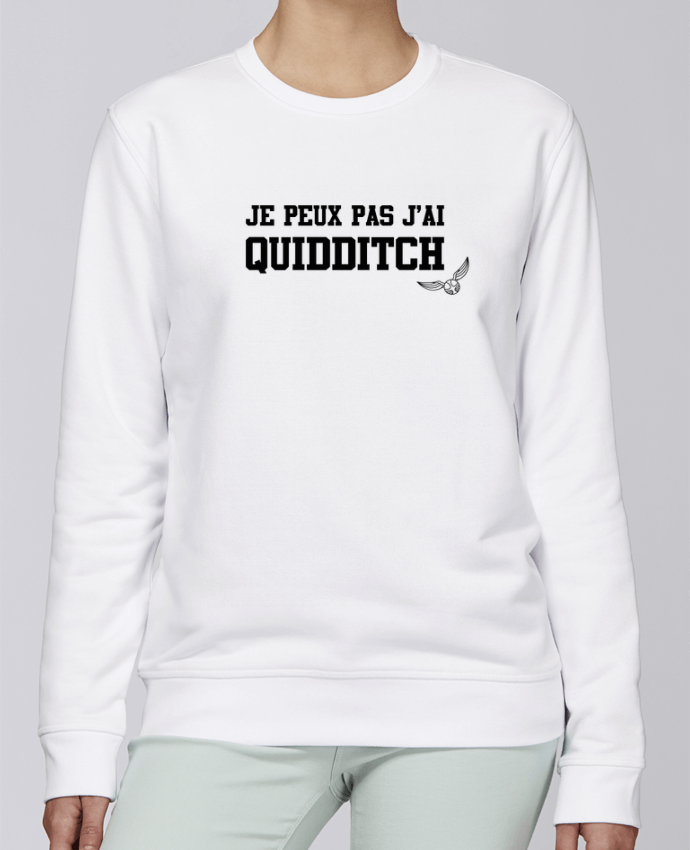 Unisex Sweatshirt Crewneck Medium Fit Rise Je peux pas j'ai quidditch by tunetoo