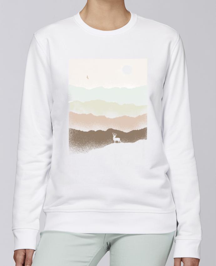 Unisex Sweatshirt Crewneck Medium Fit Rise Quietude by Florent Bodart