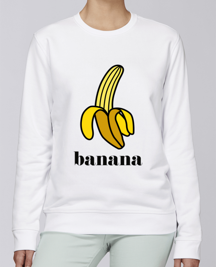 Unisex Sweatshirt Crewneck Medium Fit Rise Banana by tunetoo