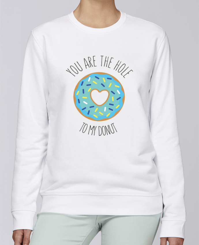 Unisex Sweatshirt Crewneck Medium Fit Rise Donut coeur by tunetoo