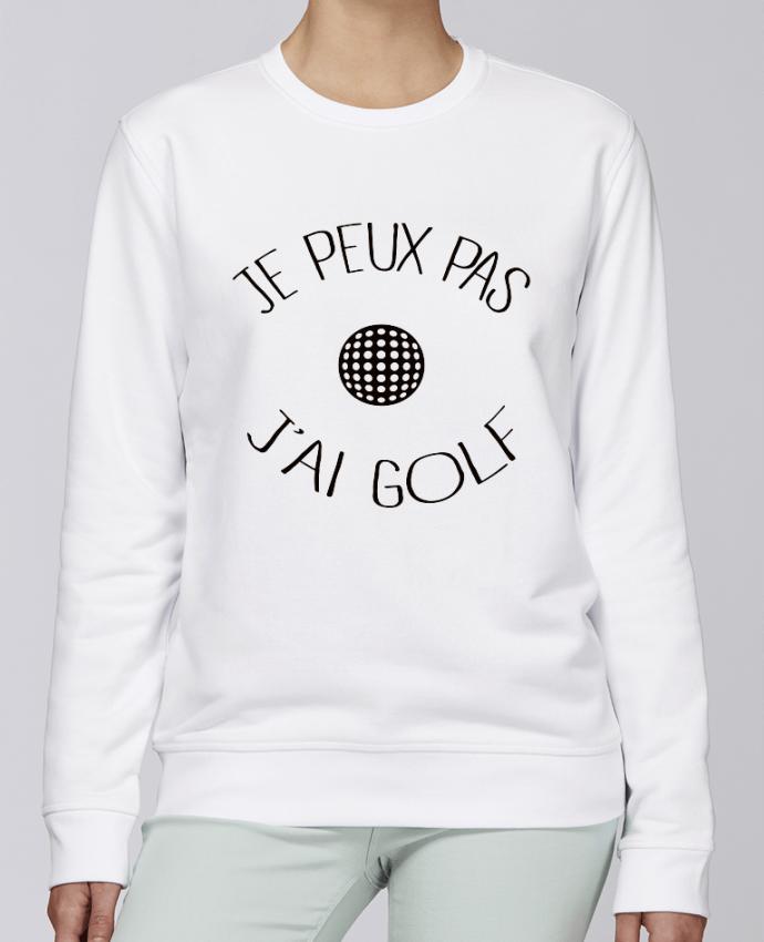 Unisex Sweatshirt Crewneck Medium Fit Rise Je peux pas j'ai golf by Freeyourshirt.com