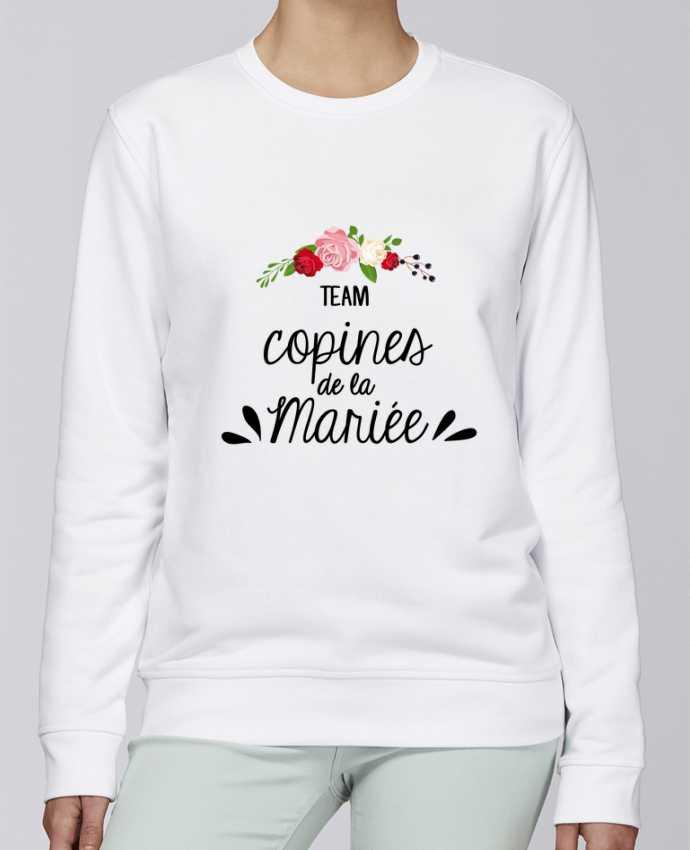 Unisex Sweatshirt Crewneck Medium Fit Rise TEAM COPINES DE LA MARIEE by FRENCHUP-MAYO