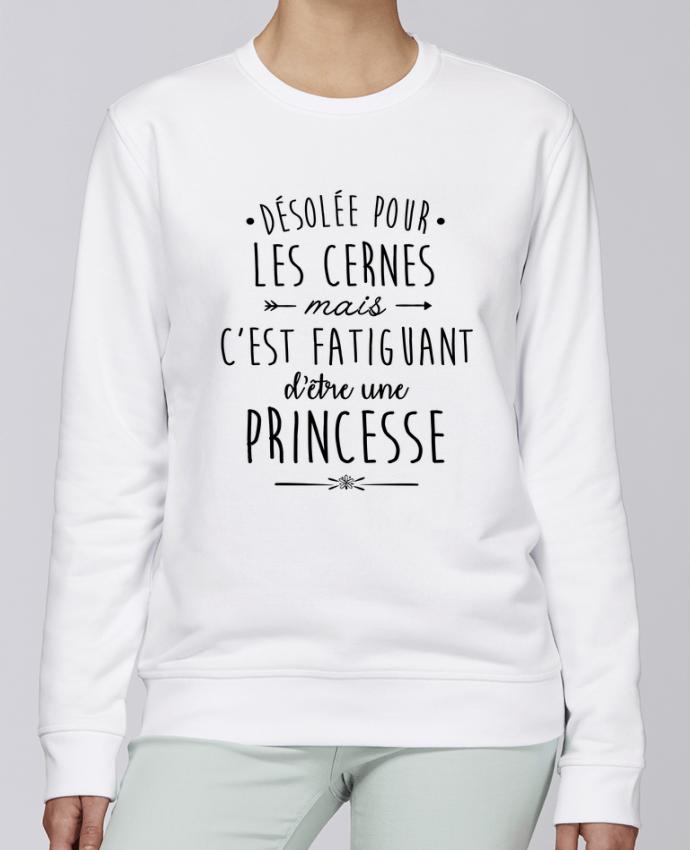 Unisex Sweatshirt Crewneck Medium Fit Rise C'est fatiguant d'être une princesse by LPMDL