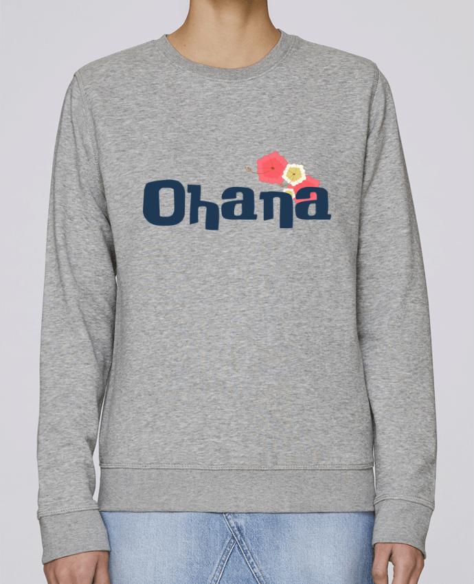 Sweatshirt Crewneck Medium Fit Rise Ohana by Bichette