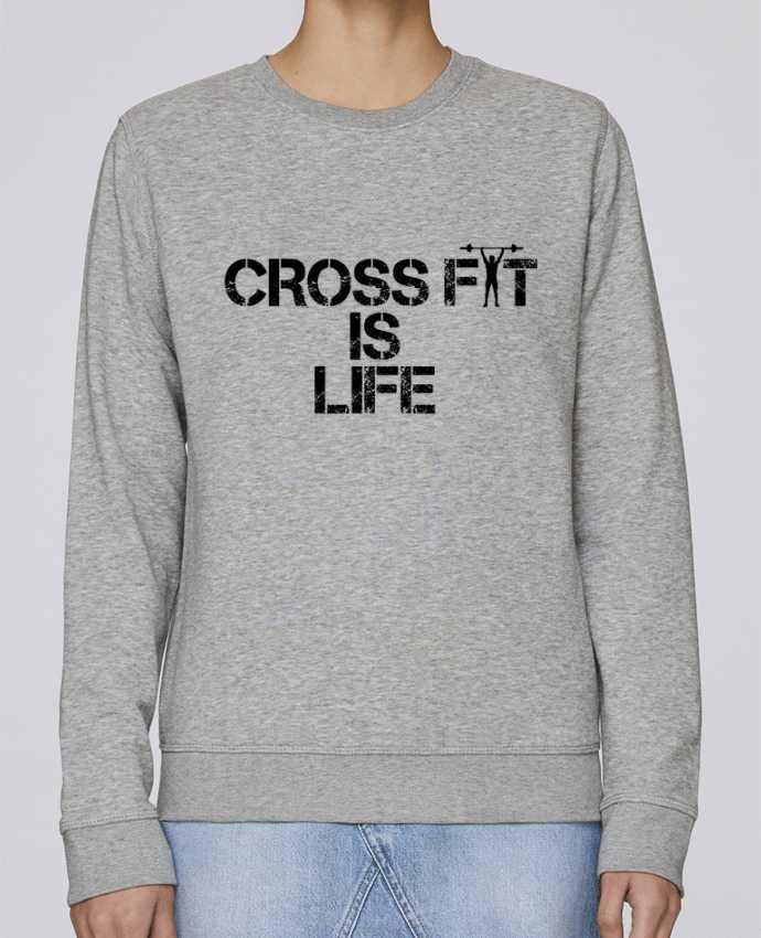 Sweatshirt Crewneck Medium Fit Rise Crossfit is life by tunetoo