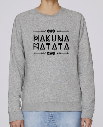 87a6db2482069 5566892-sweat-basique-femme-heather-grey-hakuna-matata-by-designme.png width 350 height 475