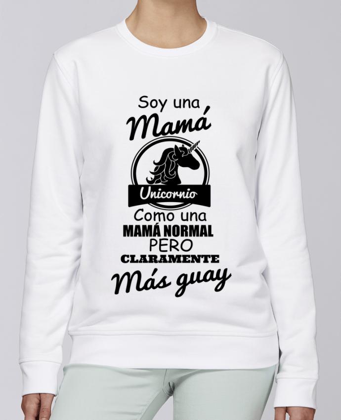 Unisex Sweatshirt Crewneck Medium Fit Rise Mamá unicornio by tunetoo