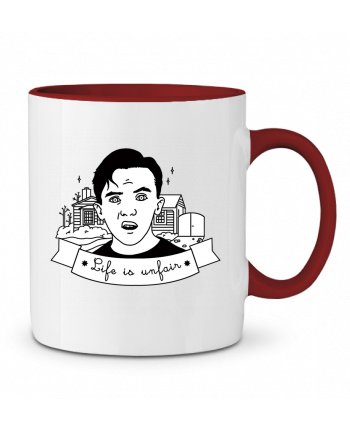 Two-tone Ceramic Mug Malcolm in the middle tattooanshort