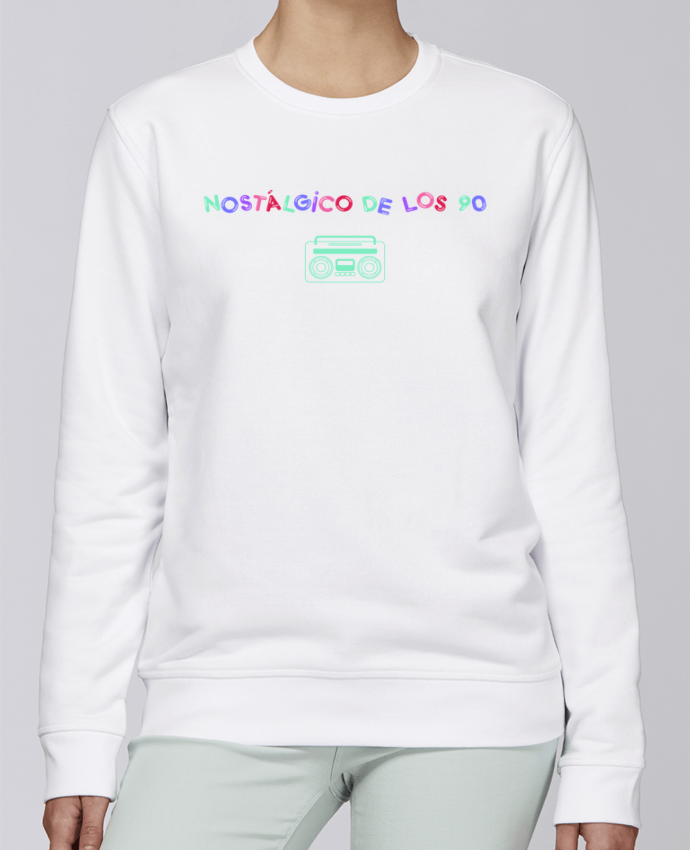 Unisex Sweatshirt Crewneck Medium Fit Rise Nostálgico de los 90 Radio by tunetoo