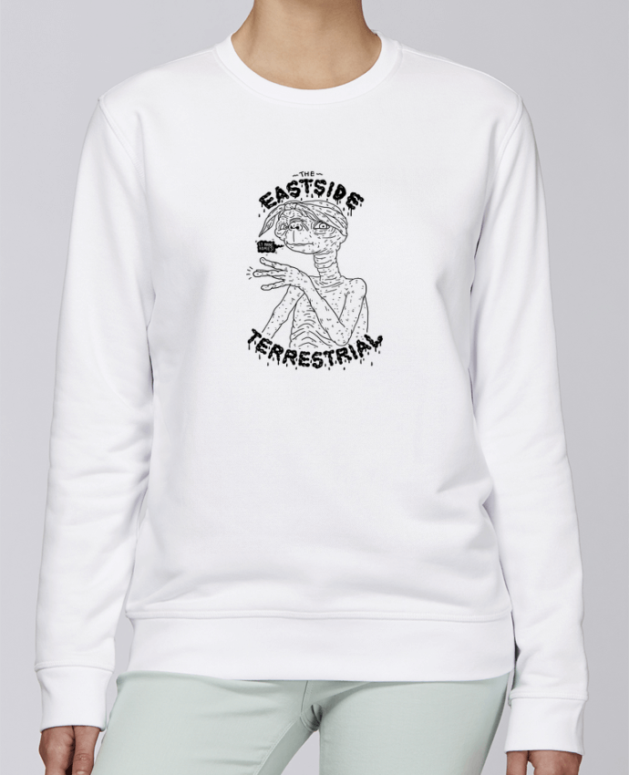 Unisex Sweatshirt Crewneck Medium Fit Rise Gangster E.T by Nick cocozza