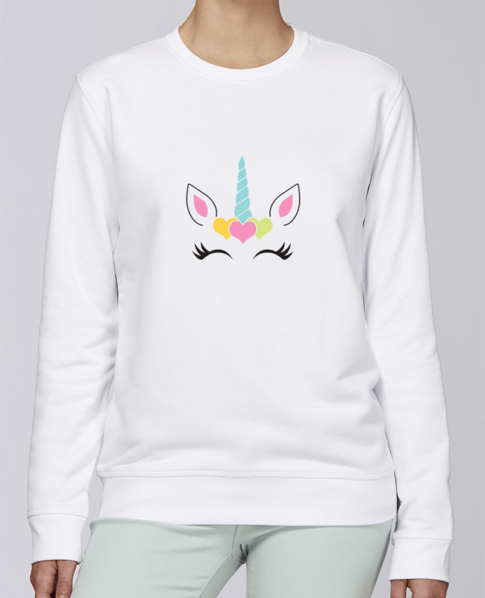 Unisex Sweatshirt Crewneck Medium Fit Rise Unicorn by tunetoo