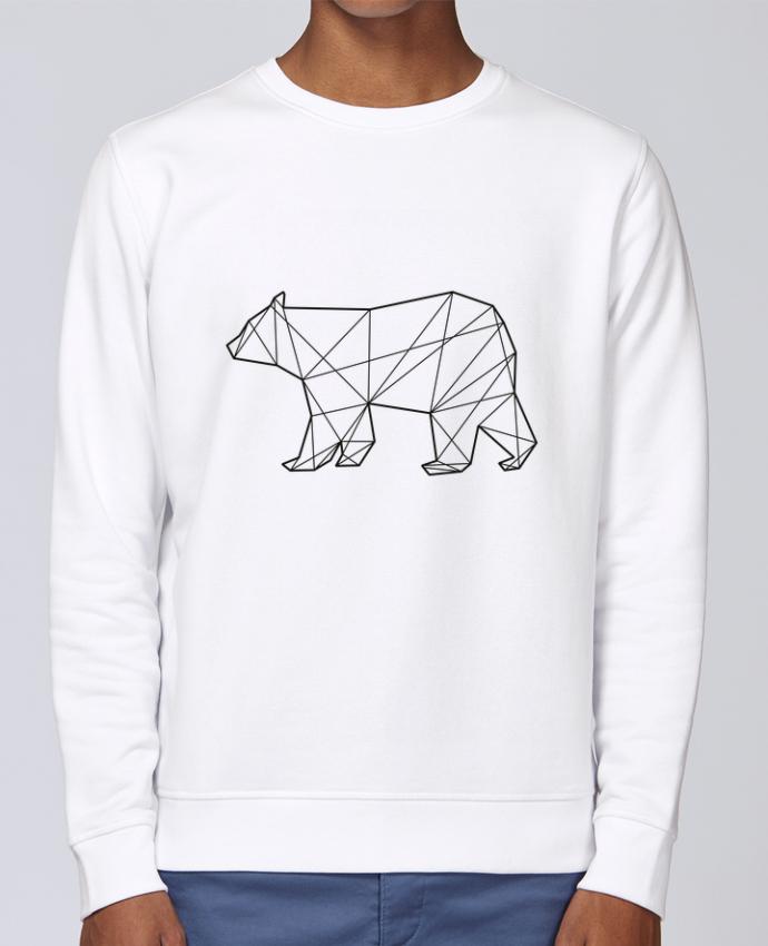 Unisex Sweatshirt Crewneck Medium Fit Rise Polygonal Bear by AB