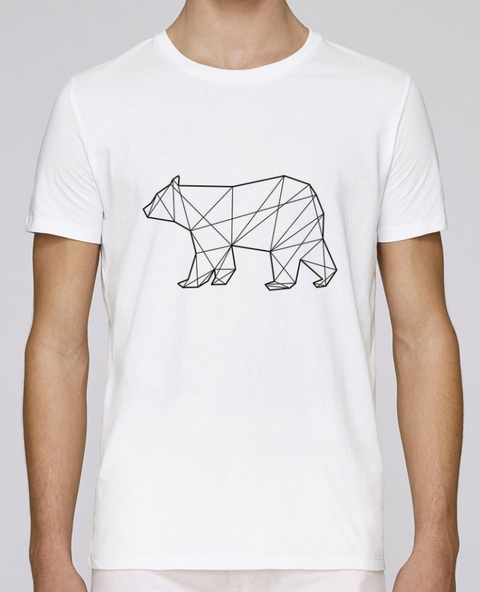 T-shirt crew neck Stanley leads Polygonal Bear by AB