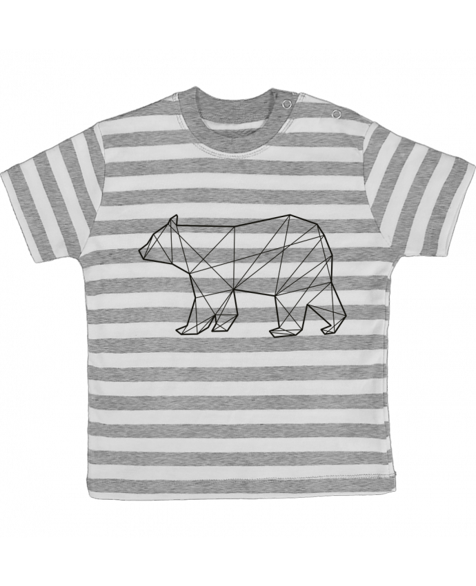 T-shirt baby with stripes Polygonal Bear by AB