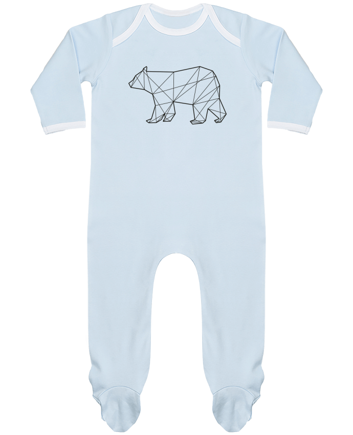 Baby Sleeper long sleeves Contrast Polygonal Bear by AB