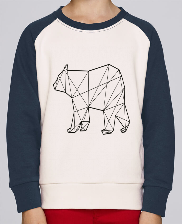 Sweatshirt Kids Round Neck Stanley Mini Contrast Polygonal Bear by AB